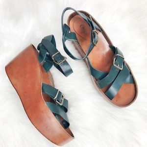 Chloe Chunky Platform Wedges Sandals